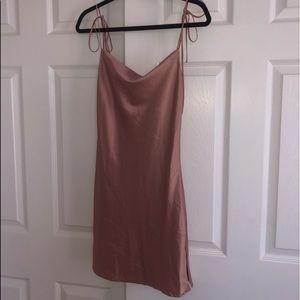 brandy meville silk cowl neck dress